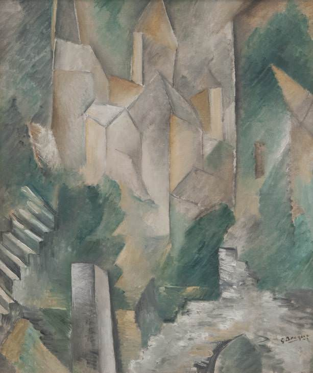 The Church of Carrières-Saint-Denis, 1909, by Georges Braque