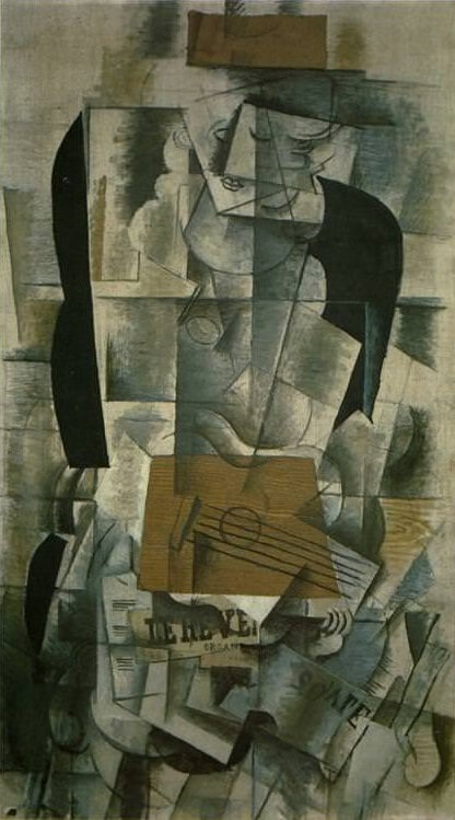 Woman with a Guitar, 1913 by Georges Braque